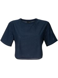 The Upside Cropped T Shirt Blue