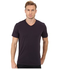 Velvet By Graham And Spencer Whisper Jersey V Neck T Shirt Yankee Men's Short Sleeve Pullover Multi