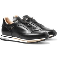 Dunhill Duke Polished Leather Sneakers Black