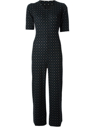 Yves Saint Laurent Vintage Polka Dot Playsuit Black