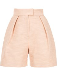 Martin Grant High Waisted Tailored Shorts Pink And Purple