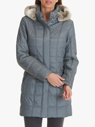 Betty Barclay Quilted Puffer Coat Ashley Blue