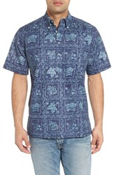 Reyn Spooner 'S Lahaina Sailor Button Down Polo Royal