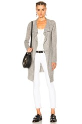 James Perse Thermal Stitch Cashmere Cardigan In Gray