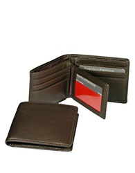 Perry Ellis Gramercy Soft Lambskin Passcase Wallet Brown