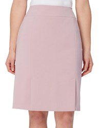 Tahari By Arthur S. Levine Double Vent Solid Skirt Rose