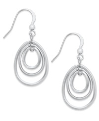 Style And Co. Earrings Silver Tone Triple Hoop Drop Earrings