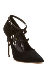 Nicole Miller Bristol Genuine Leather Stiletto Pump Black
