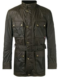Belstaff Wax Belted Jacket Green