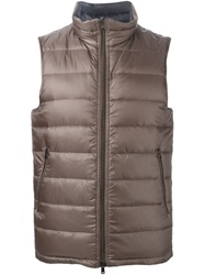 Herno Padded Gilet Brown