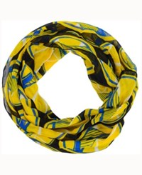 Forever Collectibles Golden State Warriors All Over Logo Infinity Wrap Scarf Black Gold