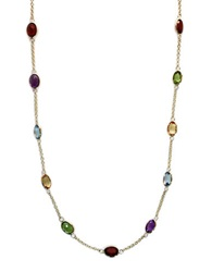 Effy Multi Colored Stone Necklace In 14K Yellow Gold