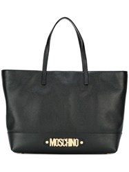 Moschino Letters Tote Black