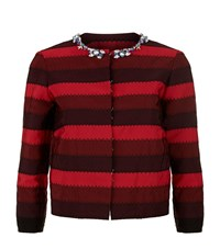 Mary Katrantzou Embellished Stripe Jacket Female Red