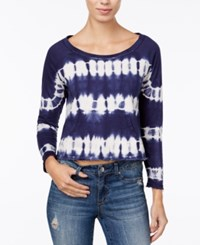 American Rag Cropped Tie Dyed Sweatshirt Only At Macy's Eclipse Combo