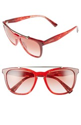Valentino Women's 54Mm Cat Eye Sunglasses Marble Red Gradient Black Marble Red Gradient Black