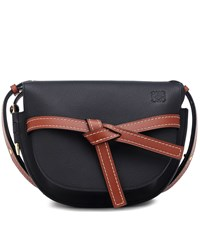 Loewe Gate Small Leather Crossbody Bag Black