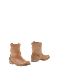 Progetto Ankle Boots Camel