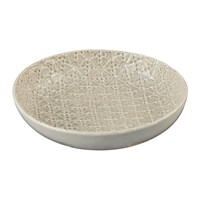 Murmur Stoneware Textured Bowl Grey