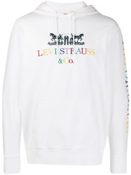 Levi's Embroidered Logo Hoodie White