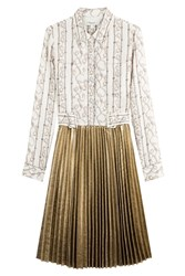 3.1 Phillip Lim Silk Dress With Pleated Skirt White