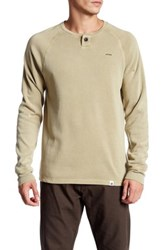 Ourcaste Bolton Long Sleeve Henley Pullover Beige