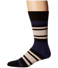 Richer Poorer Provence Navy Men's Crew Cut Socks Shoes