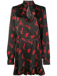Amiri Dove Print Dress Black
