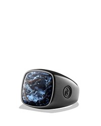 David Yurman Exotic Stone Ring With Pietersite In Black Titanium