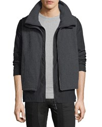 Private Stock Blk Gry Dbl Lyr Reverse Zip Black