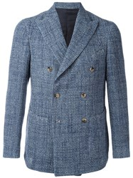 Borrelli Double Breasted Blazer Blue
