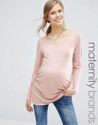 New Look Maternity Long Sleeve T Shirt Shell Pink
