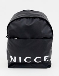 Nicce London Backpack In Black With Logo