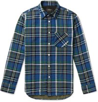 Rag And Bone Fit 3 Checked Cotton Shirt Navy