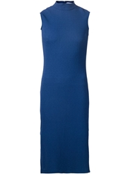 Nomia Sleeveless Fitted Dress Blue