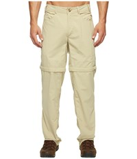 Exofficio Bugsaway R Sol Cool Convertible Ampario Pants Light Khaki Men's Casual Pants