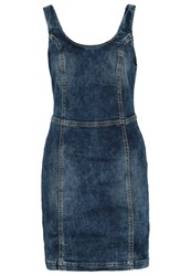 Ltb Weronika Denim Dress Blue Neppy Wash Dark Blue