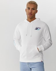 New Balance Hoodie With Sleeve Print In White White
