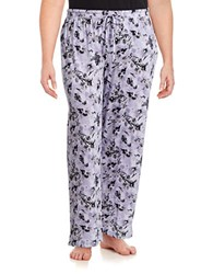 Lord And Taylor Plus Floral Pima Cotton Pajama Pants Purple