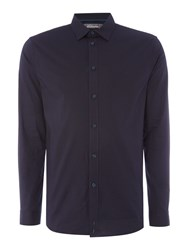 Linea Men's Lorient Stretch Poplin Shirt Navy