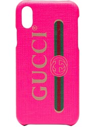 Gucci Fluorescent Pink Pvc Iphone X Xs Case