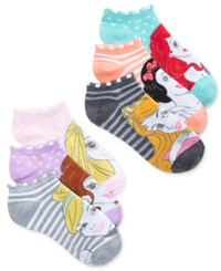 Disney Women's 6 Pk. Princess No Show Socks Desert Flower