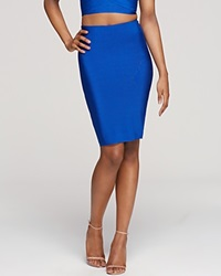 Wow Couture Bandage Pencil Skirt Royal Blue