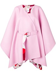 Emilio Pucci Oversized Belted Cape Pink