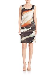 Lafayette 148 New York Rebecca Printed Sleeveless Dress Sedona Multi