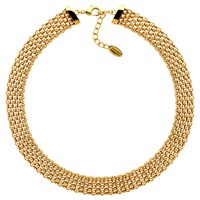 Finesse Chunky Mesh Collar Necklace Gold