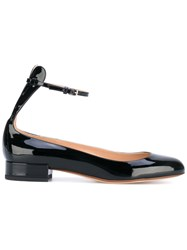 Francesco Russo Ballerina Shoes Women Leather Patent Leather 35 Black