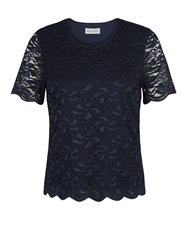 Eastex Navy Lace Top