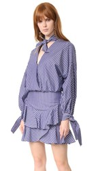 Fame And Partners Stripe Two Piece Dress Navy Pinstripe