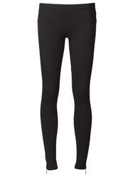 Getting Back To Square One Leather Panel Leggings Black